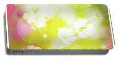 Summer Flowers, Baby's Breath, Digital Art Portable Battery Charger
