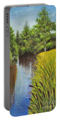 Summer Landscape, Painting Portable Battery Charger