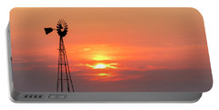 Sunrise And Windmill 01 Portable Battery Charger