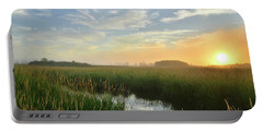 Sunrise At Glacial Park Portable Battery Charger