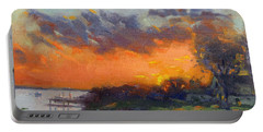 Sunset At Gratwick Waterfront Park Portable Battery Charger