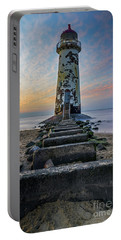 Sunset At The Lighthouse Portable Battery Charger by Ian Mitchell