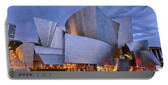 Sunset At The Walt Disney Concert Hall In Downtown Los Angeles. Portable Battery Charger