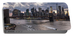Sunset Over New York City Portable Battery Charger