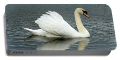 Portable Battery Charger featuring the photograph Swan by Cliff Norton