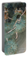 Swaying Dancer  Dancer In Green Portable Battery Charger