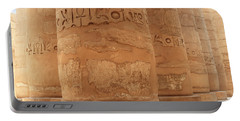 Portable Battery Charger featuring the photograph Temple Of Karnak by Silvia Bruno