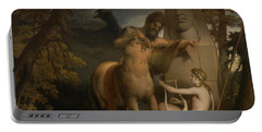 The Education Of Achilles Portable Battery Charger by James Barry