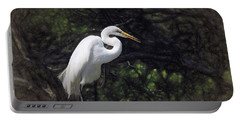 The Great White Egret Portable Battery Charger