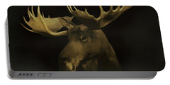 Portable Battery Charger featuring the digital art The Moose by Ernie Echols