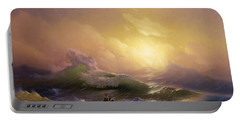 The Ninth Wave Portable Battery Charger by Ivan Aivazovsky