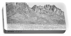 Portable Battery Charger featuring the painting The Organ Mountains by Jack Pumphrey