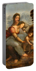 The Virgin And Child With St. Anne Portable Battery Charger