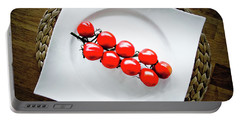 Tomatoes Portable Battery Charger by Cesar Vieira