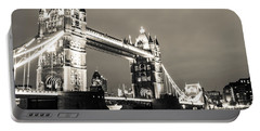 Tower Bridge At Night Portable Battery Charger by Dawn OConnor