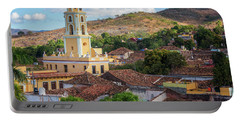 Portable Battery Charger featuring the photograph Trinidad Cuba Cityscape II by Joan Carroll