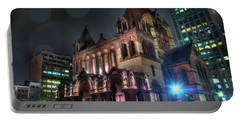 Portable Battery Charger featuring the photograph Trinity Church - Copley Square Boston by Joann Vitali
