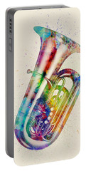 Tuba Abstract Watercolor Portable Battery Charger