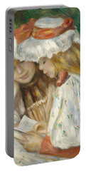 Two Girls Reading Portable Battery Charger