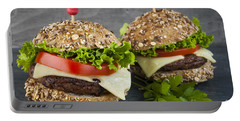 Two Gourmet Hamburgers Portable Battery Charger