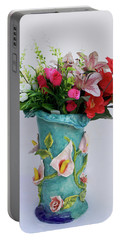Vase, Rose Calla Portable Battery Charger