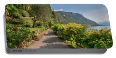 Portable Battery Charger featuring the photograph Villa Cipressi Gardens by Brenda Jacobs