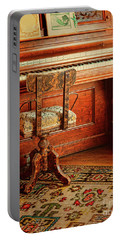 Portable Battery Charger featuring the photograph Vintage Piano by Jill Battaglia