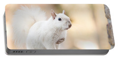 White Squirrel Portable Battery Charger by Vizual Studio
