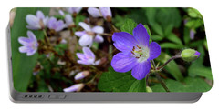 Wild Geranium Portable Battery Charger by Tim Good