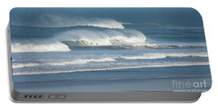 Windy Seas In Cornwall Portable Battery Charger by Nicholas Burningham
