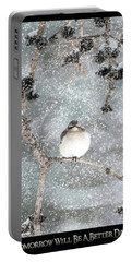 Winter Mockingbird Portable Battery Charger
