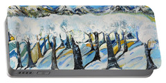 Portable Battery Charger featuring the painting Winterland by Evelina Popilian