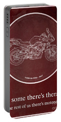 Yamaha Fz6b 2007 Art Print And Motorcycle Quote, Gift For Men Portable Battery Charger