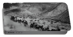 20 Mule Team Borax Hauling - Death Valley C. 1899 Portable Battery Charger