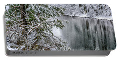 Portable Battery Charger featuring the photograph Winter Along Cranberry River by Thomas R Fletcher