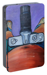 Portable Battery Charger featuring the painting 200 Zoom by Gary Coleman