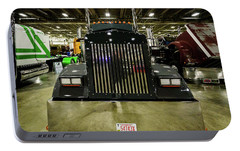 Portable Battery Charger featuring the photograph 2000 Kenworth W900 by Randy Scherkenbach