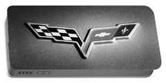 2007 Chevrolet Corvette Indy Pace Car -0301bw Portable Battery Charger