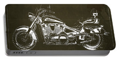 2007 Kawasaki Vulcan 2000 Ltd Blueprint,art Print Larger Sizes, Motorcycle, Gift For Man Portable Battery Charger