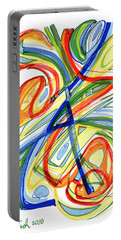 2010 Abstract Drawing Eight Portable Battery Charger by Lynne Taetzsch
