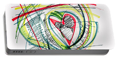 2010 Abstract Drawing Eighteen Portable Battery Charger by Lynne Taetzsch