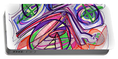 2010 Abstract Drawing Eleven Portable Battery Charger by Lynne Taetzsch