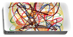 2010 Abstract Drawing Fourteen Portable Battery Charger by Lynne Taetzsch