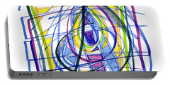 2010 Abstract Drawing Nineteen Portable Battery Charger by Lynne Taetzsch