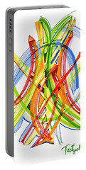 2010 Abstract Drawing Seven Portable Battery Charger by Lynne Taetzsch