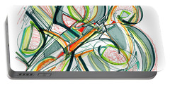 2010 Abstract Drawing Seventeen Portable Battery Charger by Lynne Taetzsch