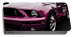 Portable Battery Charger featuring the photograph 2010 Pink Ford Cobra Mustang Gt 500 by Joann Copeland-Paul
