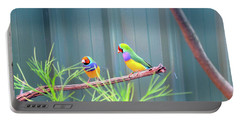 Aussie Rainbow Lovebirds Portable Battery Charger