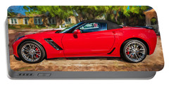 2015 Chevrolet Corvette Zo6 Painted  Portable Battery Charger