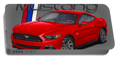 2015 Red Mustang Portable Battery Charger